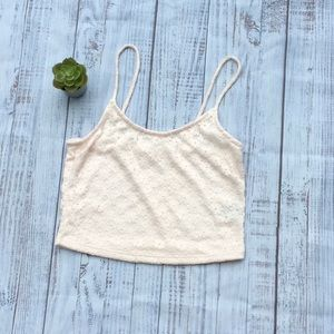 Light Pink Lacy Crop Top
